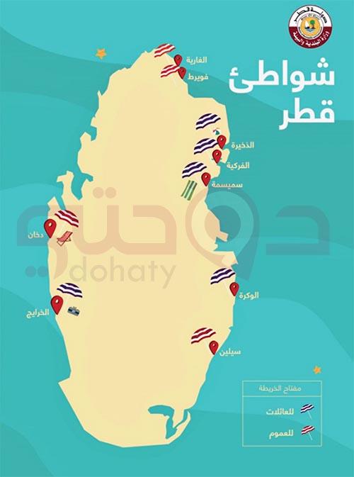 أفضل شواطئ قطر | شاطئ خور العديد وفويرط والغارية