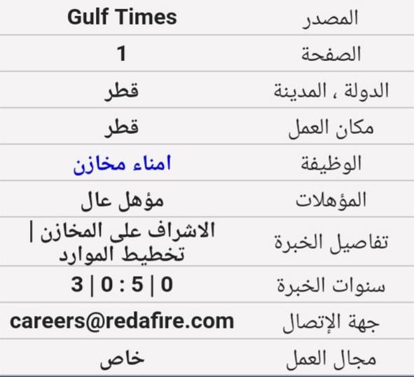 نشرة وظائف قطر اليوم 19 ديسمبر 2019