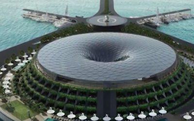 فندق عائم في قطر يدور حول نفسه ويولد الكهرباء ذاتيًا